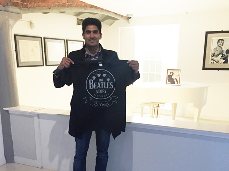 Number One Hit: Boxer Vijender Singh visits the Beatles Story