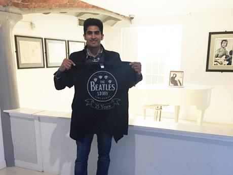 Number One Hit: Boxer Vijender Singh visits the Beatles Story