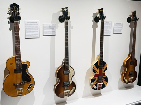 New: Höfner loan four one-off replica guitars to the Beatles Story