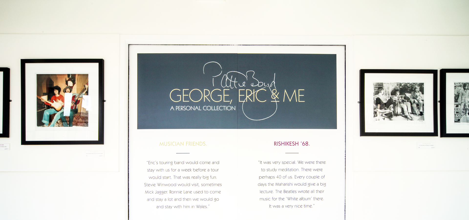 George, Eric and Me: New exhibition opens