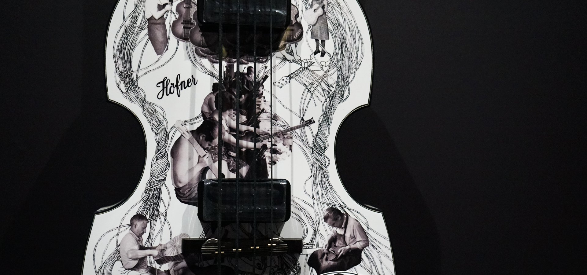 Revolver 50: Klaus Voormann bass goes on display