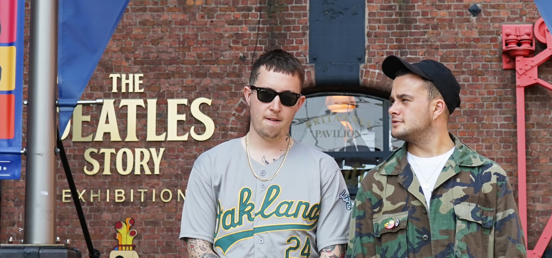 Slaves: Punk duo visit The Beatles Story