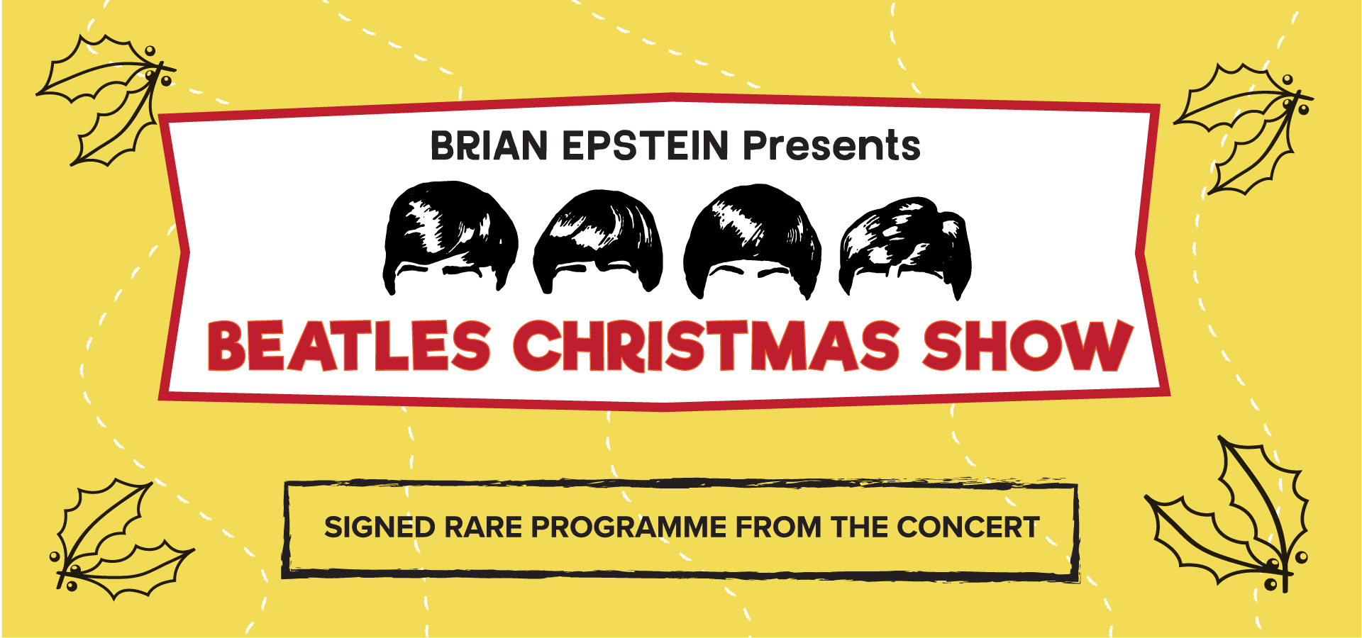 Christmas Show: the signed rare programme