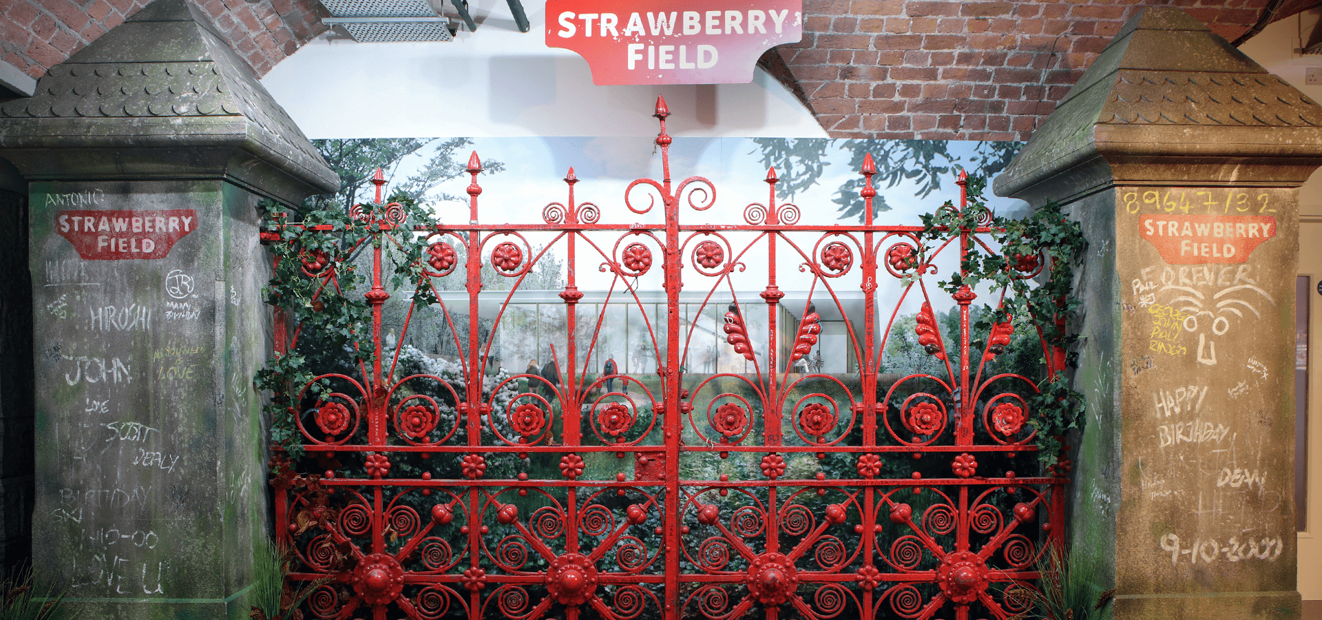 Strawberry Fields Forever: iconic gates on display