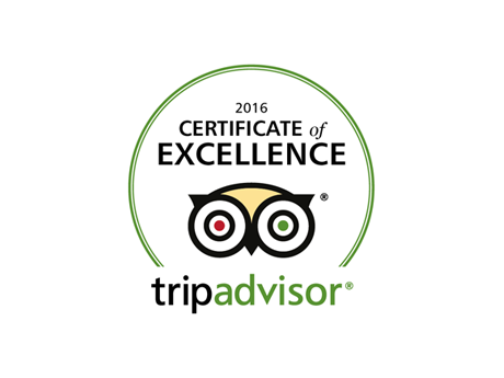 TripAdvisor: Certificate of Excellence