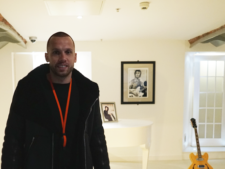 John Heitinga: Ex Everton footballer visits The Beatles Story
