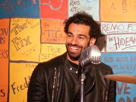 Mo Salah: Liverpool forward visits The Beatles Story