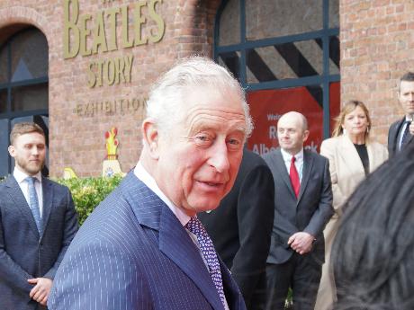Royal visit: Prince Charles returns to the Albert Dock