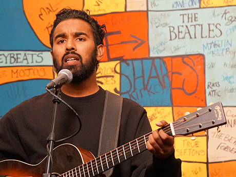 Yesterday: Himesh Patel performs at The Beatles Story