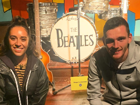 Andy Robertson: LFC player visits The Beatles Story