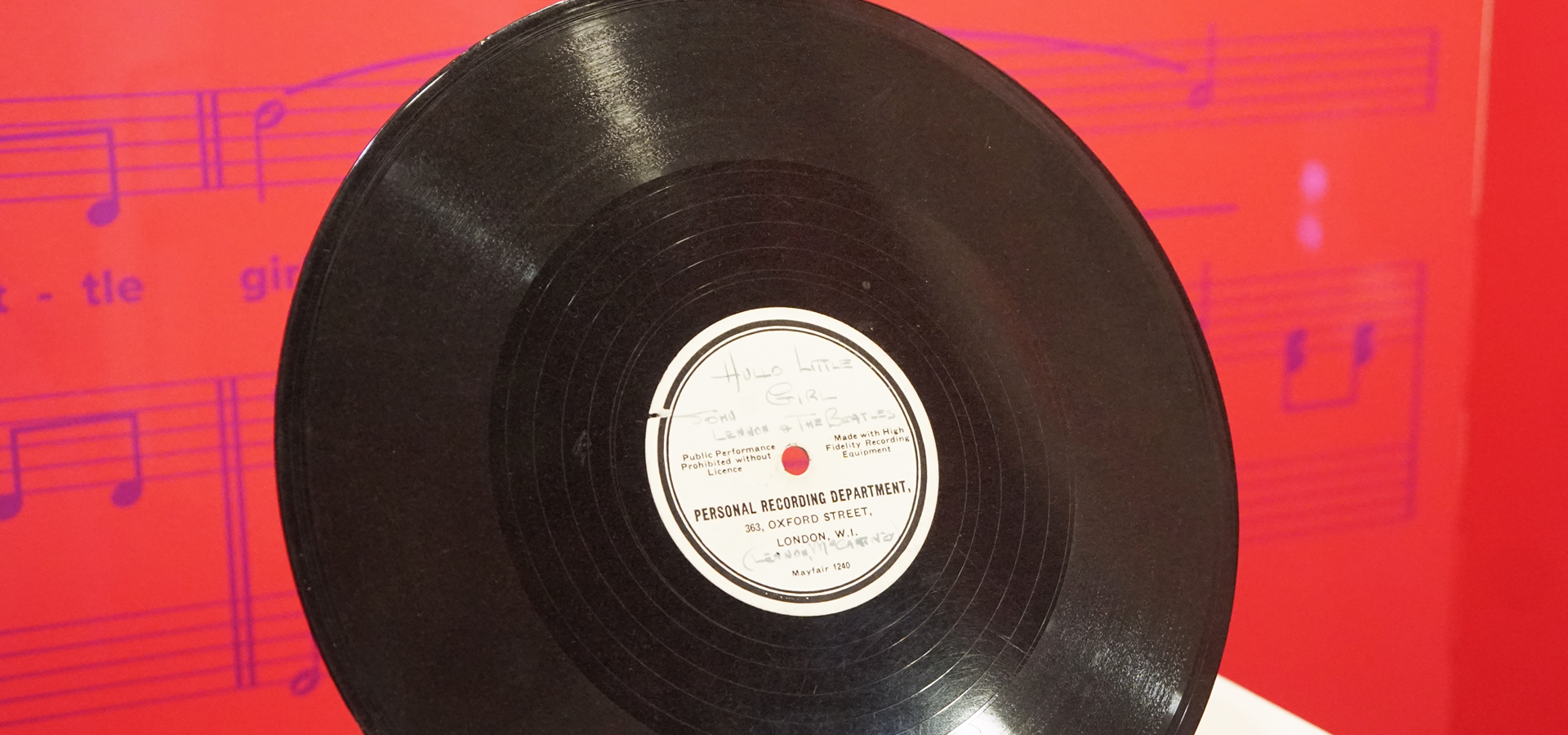 Memorabilia: the record that launched The Beatles